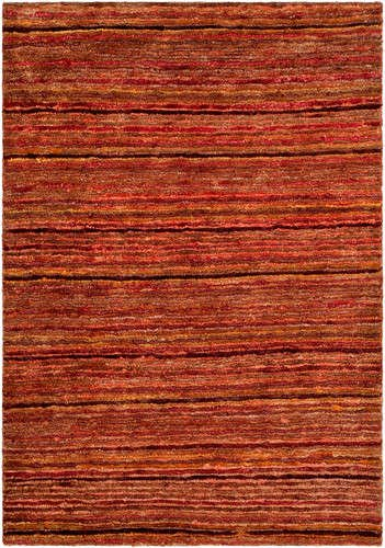 Organica Collection Runner (Safavieh Organica Collection ORG212A Hand-Knotted Red and Multi Wool Runner (2'6