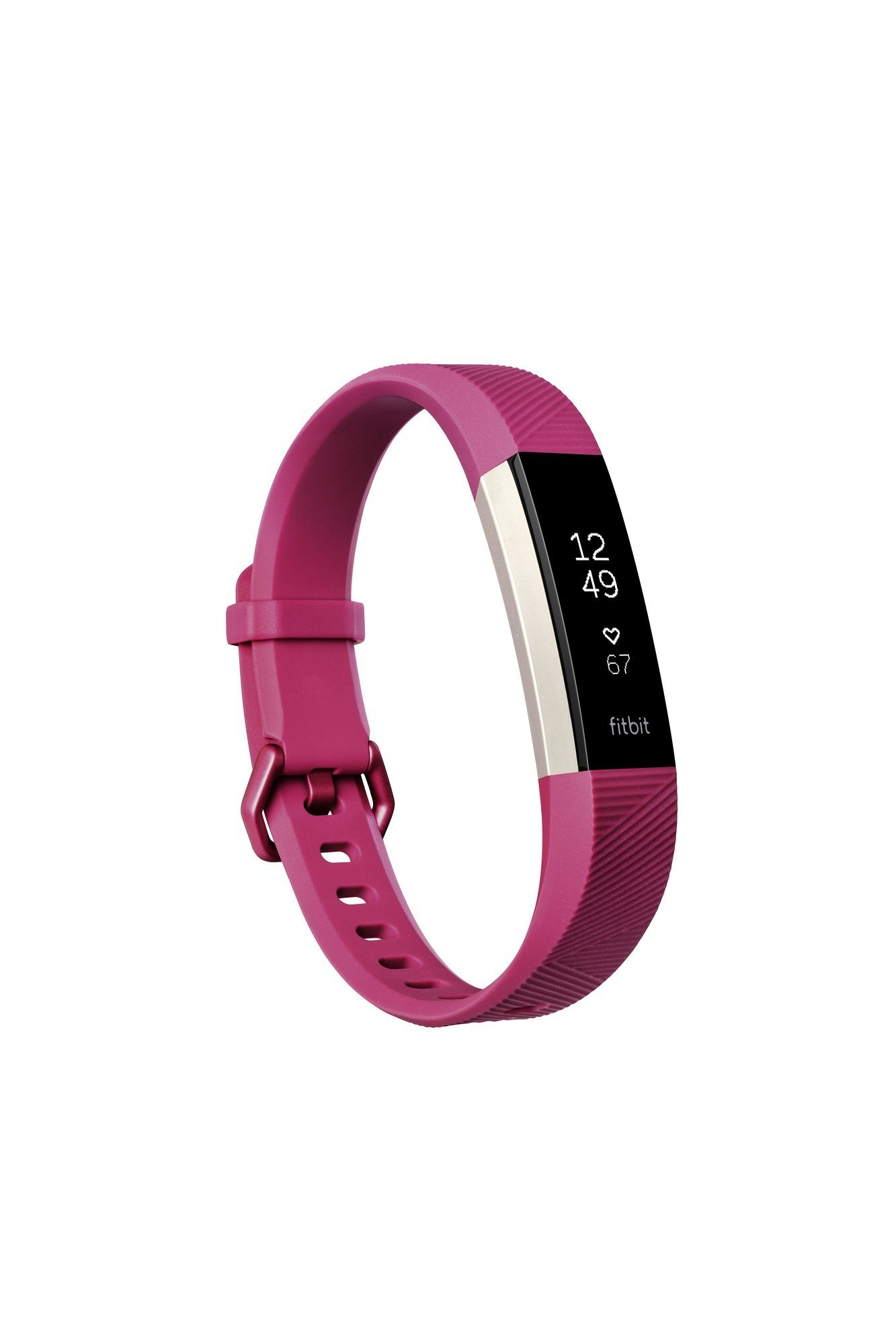 Fitbit Alta HR, Fuchsia, Small (Renewed)