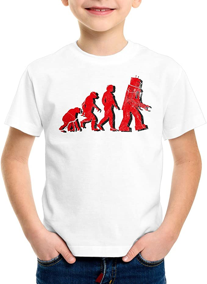 style3 Robot Evolución Camiseta para Niños T-Shirt: Amazon.es ...