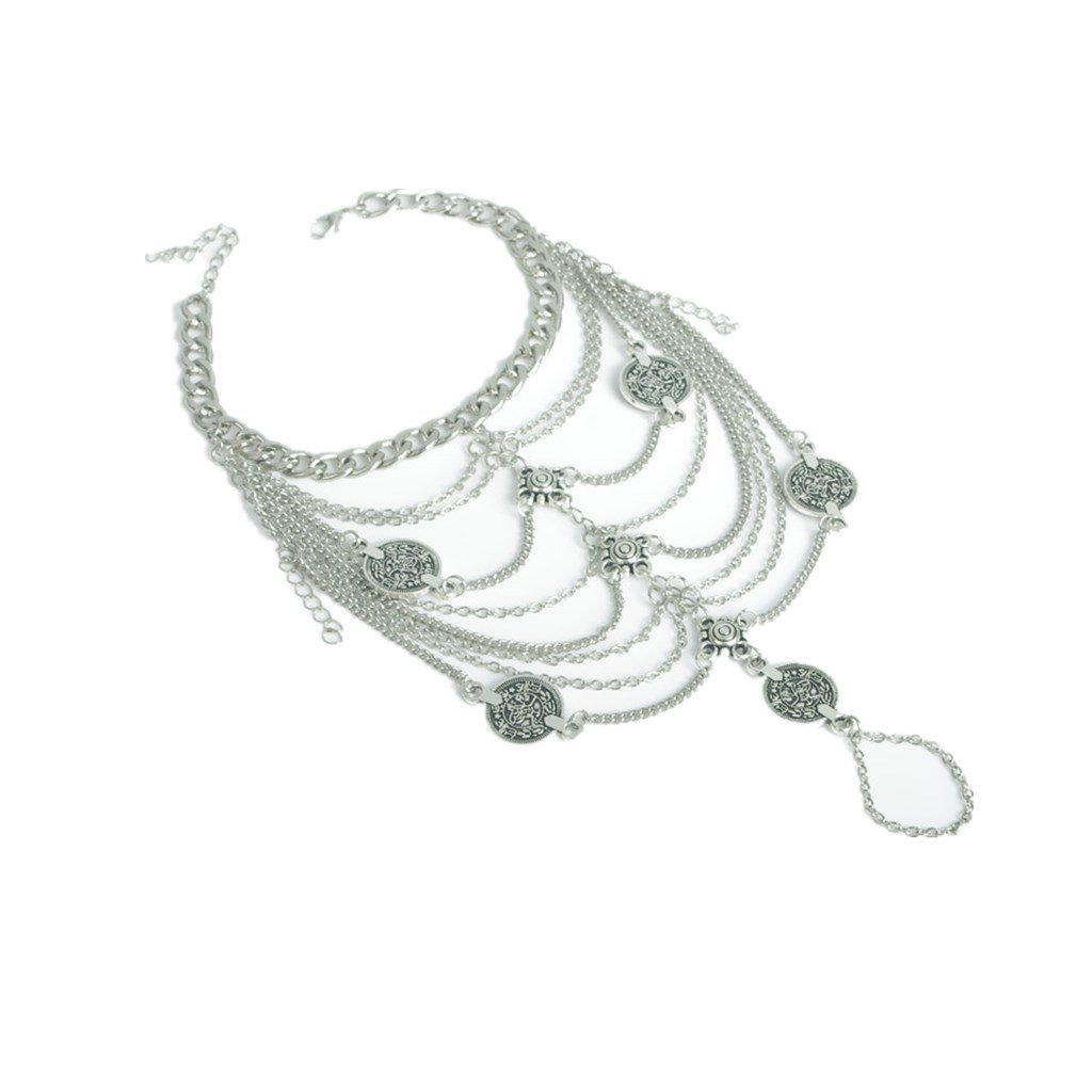 Bohemian Coin Ankle Foot Chain Bracelet Anklet Summer Beach Jewelry-Silver Generic STK0156005226