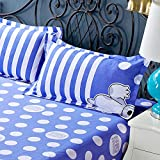 D&L Printting Polyester Pillowcase,Bedding Pillow Protector Breathable Hypoallergenic Durable Wrinkle Resistant 1pc-D 48x74cm(19x29inch)