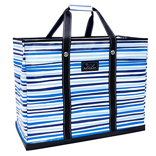 4 Large Bags - SCOUT 4 Boys Bag, Extra Large, Durable All Purpose Foldable Utility Tote, Folds Flat, Water Resistant, Zips Closed, True Blue