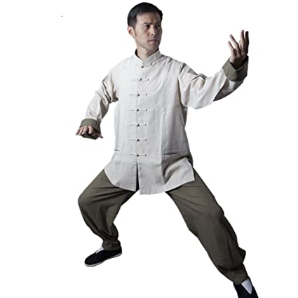 64243947a BlueSkyDeer Men's Meditation Clothing Tai Chi Clothes Kung Fu Outfit Can Be  Customized M