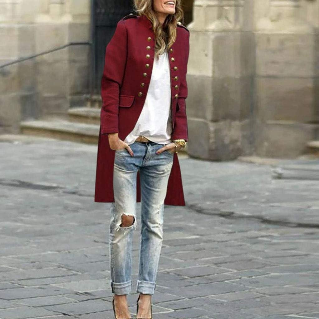 HULKY Vintage Manteau Femme Vestes Gilet Blazer Femme /À Double Boutonnage Jacket Cardigan /À Manches Longues Outwear Veste Femme Chic Gilet Hiver Blouson Femme Pas Cher Parka Sweatshirt Hoodie Pull