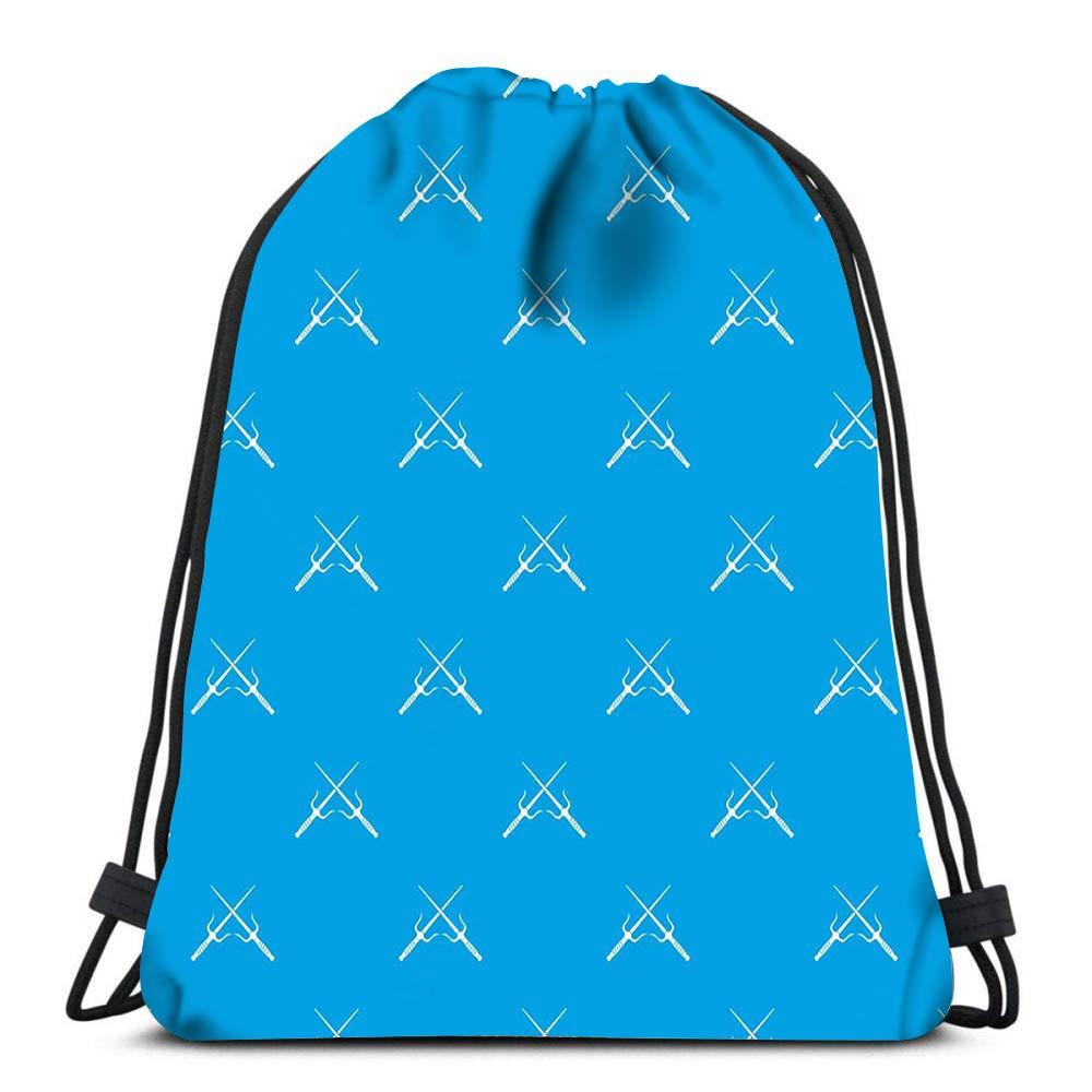 Penguin-funny-blue-water Cute Gym Drawstring Bags Travel Backpack Tote School Rucksack