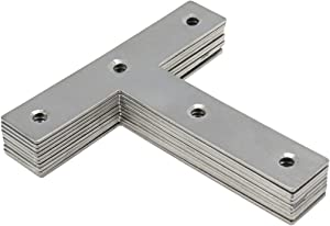 Rannb T Type Mending Plate Stainless Steel Flat Repair Plate - 10pcs