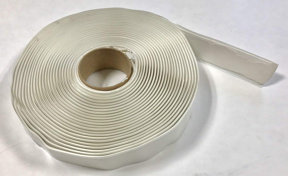 White Butyl Tape 1/8 inch x 1 inch x 30 feet for RV/Mobile Home (Single Roll)