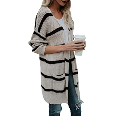 3edae2ab0954e2 Vovotrade Fashion Womens Autumn Winter Knitted Long Sleeve Sweater Adorable  Trench Coat Open Front Cardigan Jacket