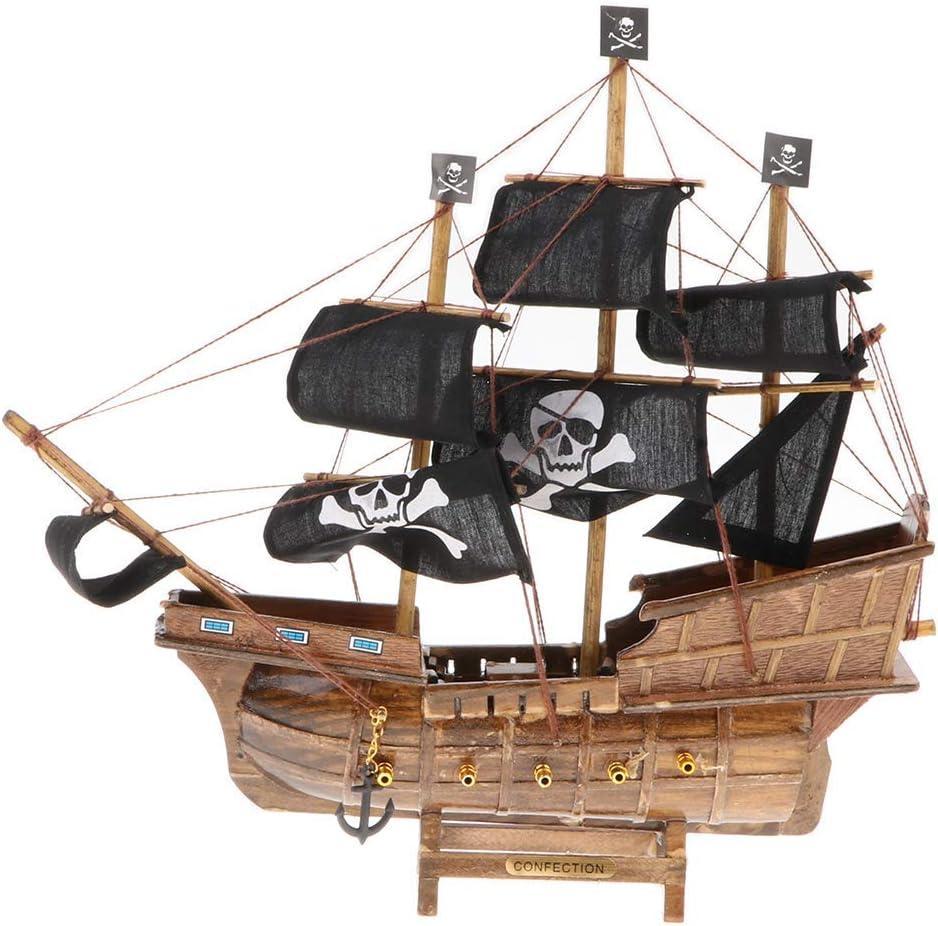 Tubayia Vintage velero Barco Pirata Modelo decoración de Mesa para ...