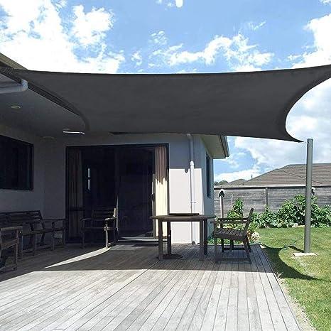 YSHUAI Toldo Vela De Sombra Cuadrado, Protección Rayos UV Transpirable para Patio, Exteriores, Jardín, Color Negro, Vela De Sombra Impermeable,2.5X3m: Amazon.es: Hogar