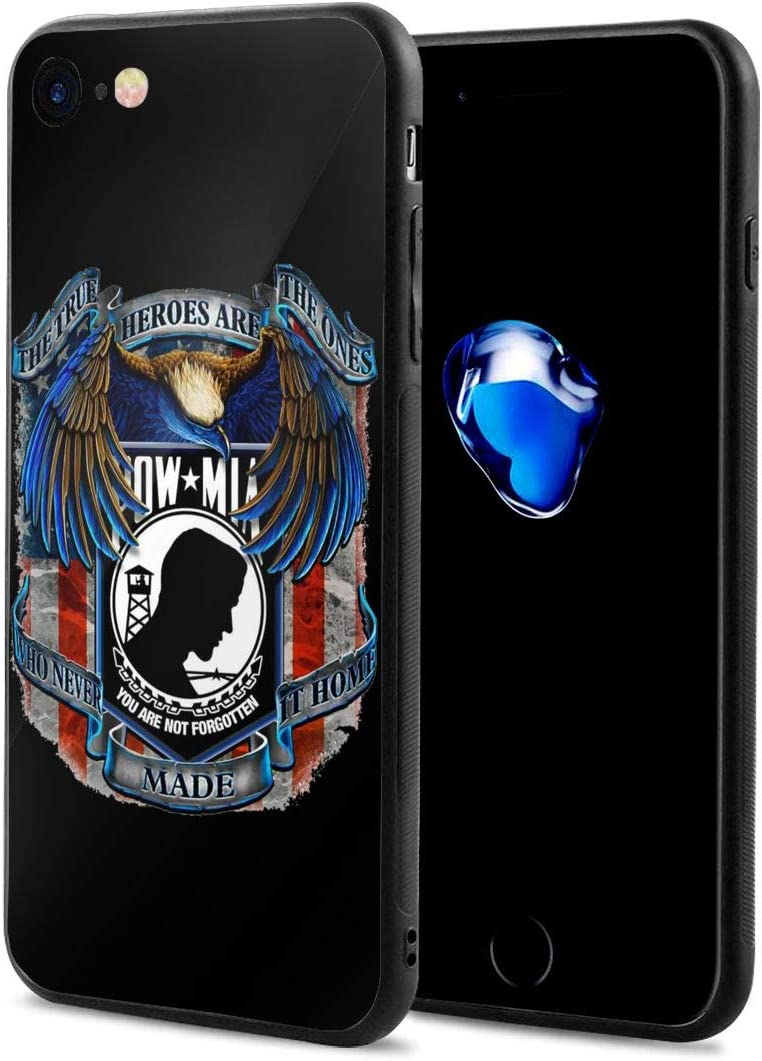 Zhaoyaqin1 Pow Mia iPhone 7 Case iPhone 8 Case, Soft TPU and Tempered Glass Double Layer Mobile Phone Case Cover for 4.7 in