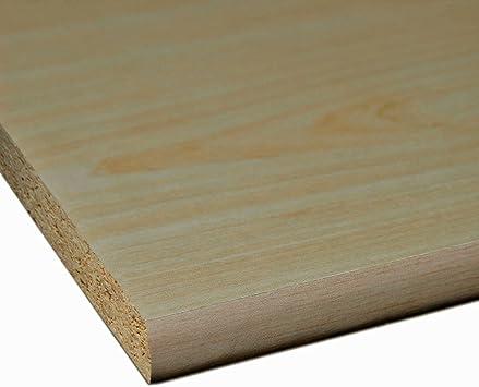 M/öbelbauplatte Regalbrett Wei/ß 2600 x 400 x 19 mm 2 Seiten umleimt