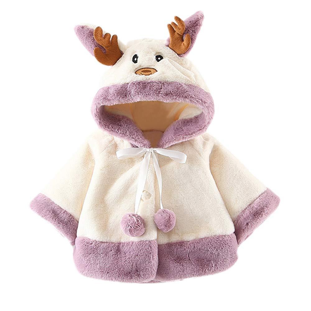 Manteau de Noël Sweat-Shirt Bébé Enfant Beikoard Parka Chaud Blousons Veste Capuche Manteau Casual Hoodie Jacket Long
