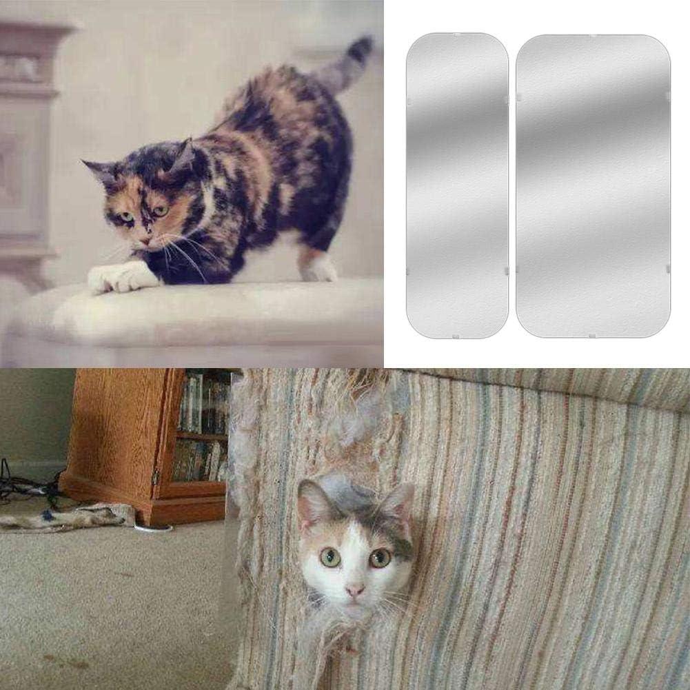 Foyar Protecci/ón antiara/ñazos para gatos protecci/ón antiara/ñazos vinilo flexible para gatos 2 unidades resistente a ara/ñazos protecci/ón para sof/á