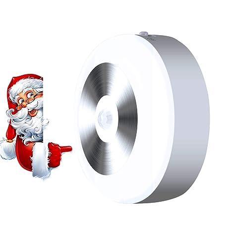 Luz de Sensor de Movimiento Neloodony, Luz de Noche LED con Batería y 3 Modos