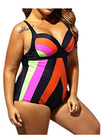 8e1d2f747d3c5 Amazon.com  Linda Per Comfortable Womens Sexy Halter Push up Plus Size  Bathing Suit Swimsuit Swimwear Bikini  Clothing