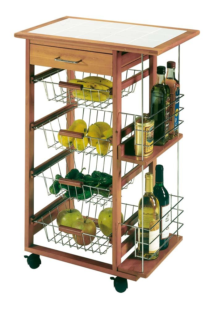 Industrias Aldaya S.L. Tiles Vegetable Rack with 2 Shelves Industrias Aldaya S.L._8970