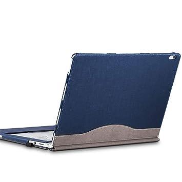 Cohokori Estuche para Laptop, Surface Book 2 Funda de 15 Pulgadas: Cubierta de Cuero de PU Premium, atracción magnética Desmontable, Dos Formas de ...