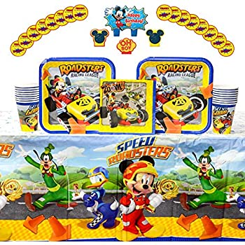 MICKEY MOUSE /& The Roadster Racers Disney Birthday Party Supply Kit Pack For 16