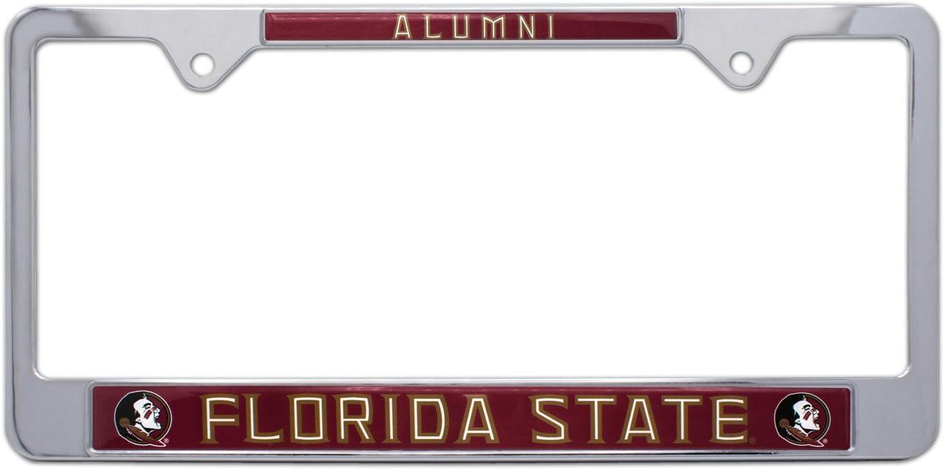 Florida State Seminoles FSU Metal Tag License Plate Carbon Fiber Design Premium Aluminum Novelty University of Inc Rico Industries