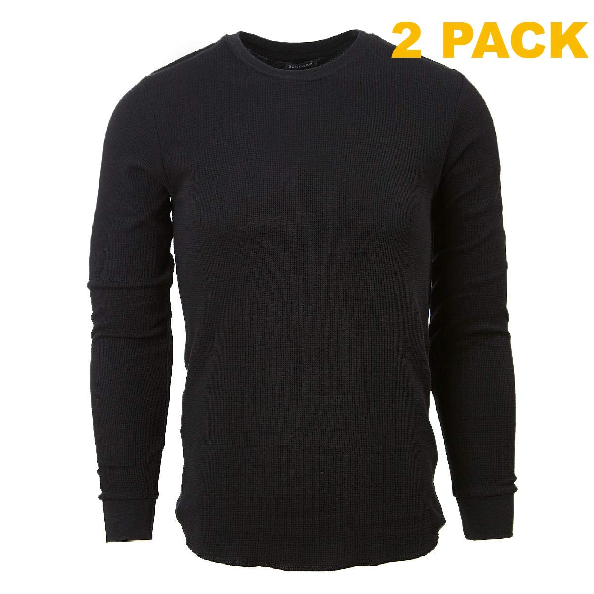 Rich Cotton Thermal Long Sleeve Light Weight T-Shirt Slim Fit Layer Shirt 2, 3 6 Pack