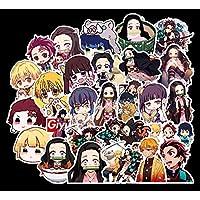 Anime Demon Slayer:Kimetsu no Yaiba Stickers for Laptop, 50Pcs Janpan Cartoon Kamado Tanjirou Nezuko Waterproof Vinyl…