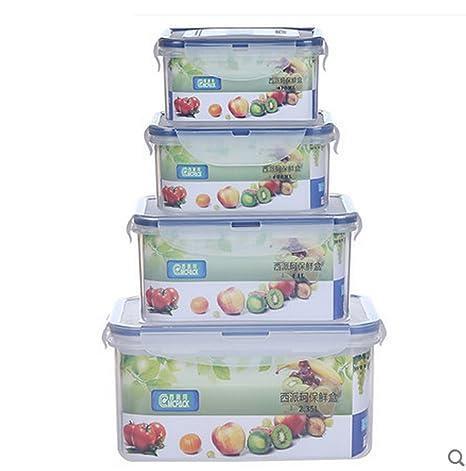 ZSSBXH JAZS Refrigerador de plástico Almacenamiento de la Cocina Refrigerador Caja de Almacenamiento Horno de microondas