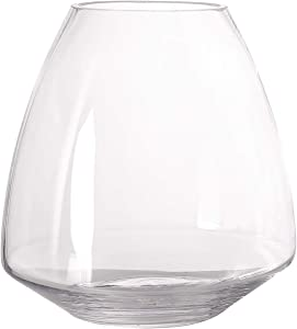 BalsaCircle 2 pcs 8-Inch Tall Clear Glass Teardrop Centerpiece Vases - Wedding Reception Home Party Events Decorations