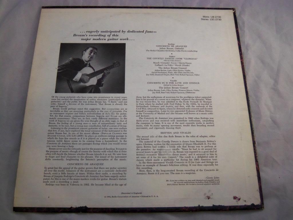 Concierto De Aranjuez For Guitar And Orchestra / Concerto For Lute ...
