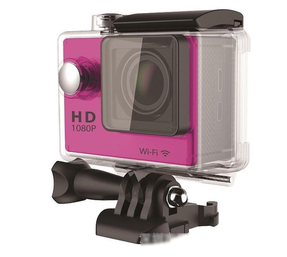 STEAM PANDA Sports Action Camera 12 Million Pixels 30M Waterproof USB 2.0 Rechargeable Batteries, Kit,Purple