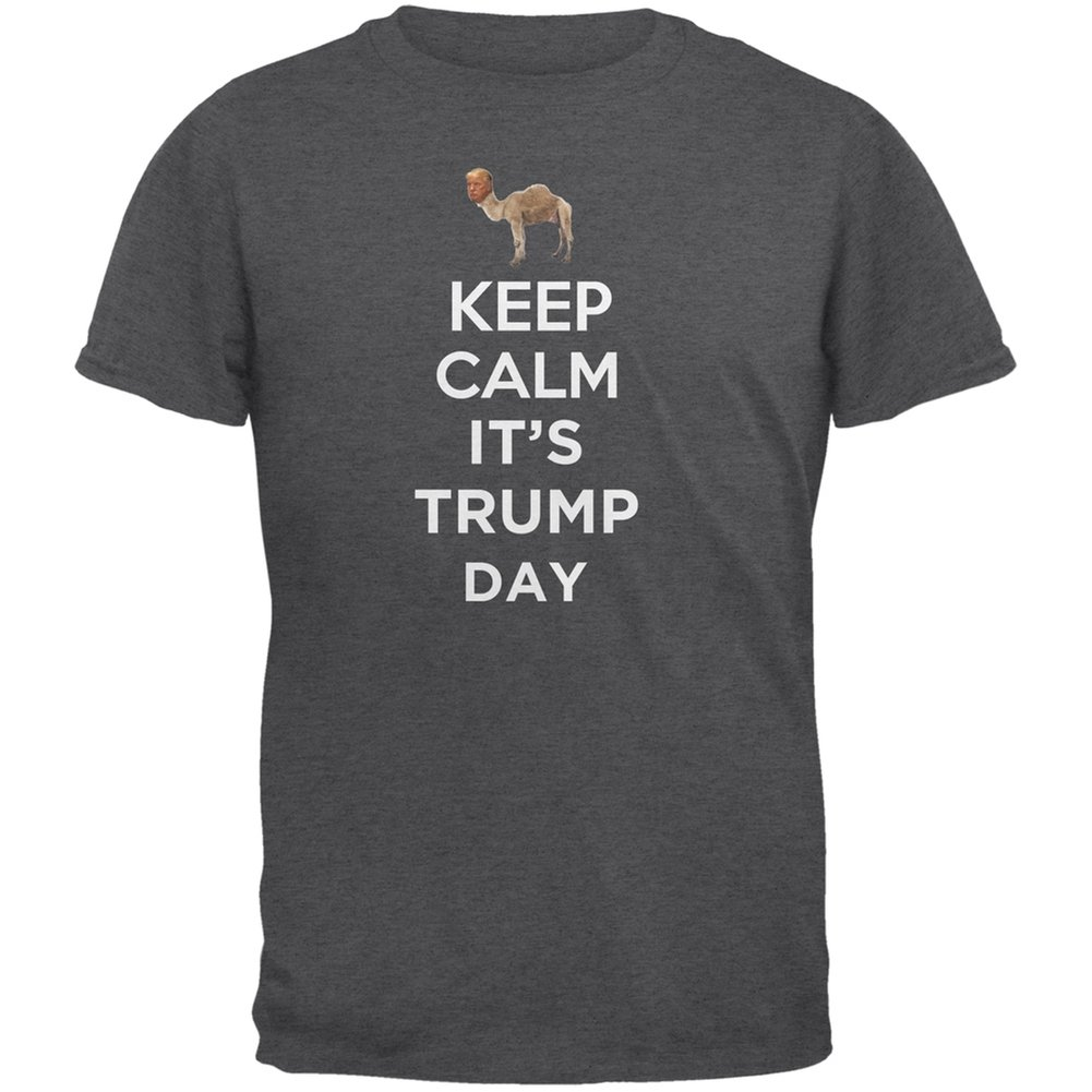 Old Glory Election 2020 Keep Calm It S Trump Day Shirt Dark Heather Adult T Shirt