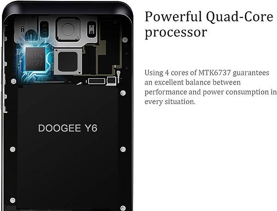 Doogee Y6C 5.5 Pulgadas 4G HD Smartphone Libre Android 6.0 ...
