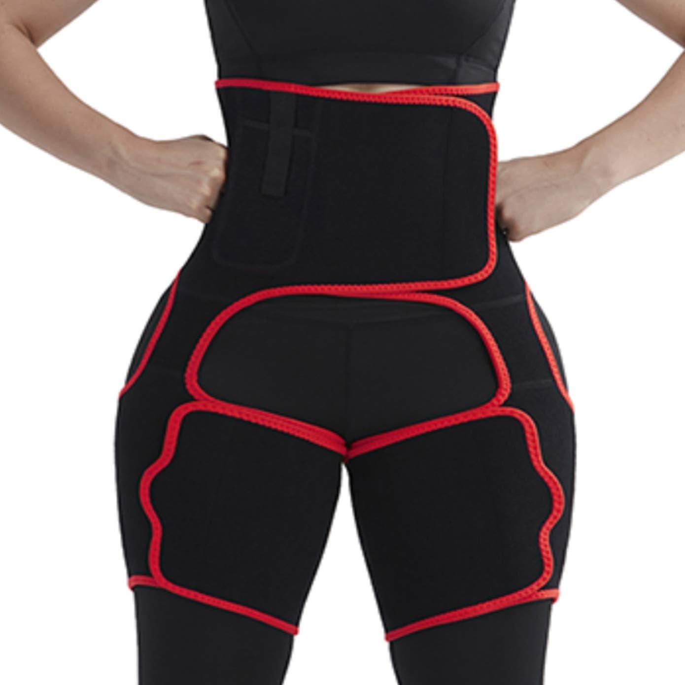 Wonder-Beauty Women's Sauna Sweat Waist Trimmer and Butt Lift Thigh Trimmer with Phone Pocket for Workout Weight Loss