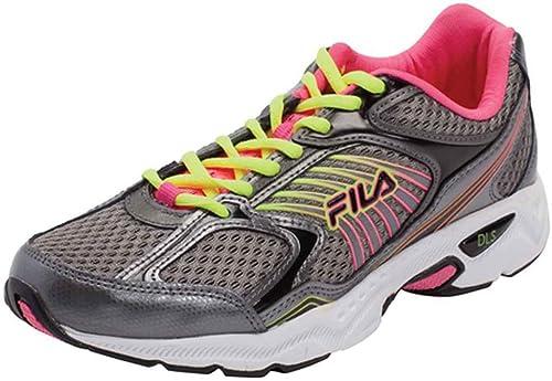Fila Inspecell - Zapatillas de Running para Hombre, Plateado (Dark Silver, Knockout Pink