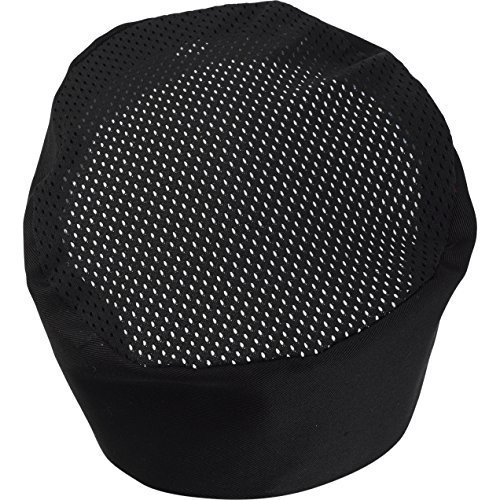 Black Chef Hat Adjustable - One Size Fit Most (1 Dozen) by Kitchen Supply Sunrise (Image #2)