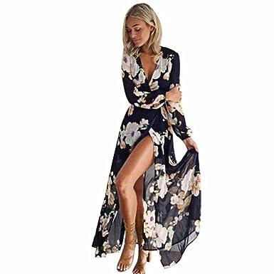 Robes longues boheme chic 2018 for Robes maxi pour mariage sur la plage