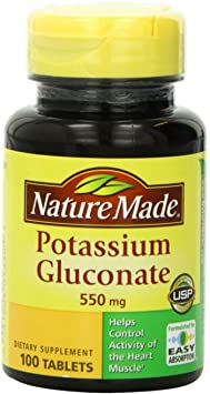 Nature Made Potassium Gluconate - Best Potassium Supplements For High Blood Pressure