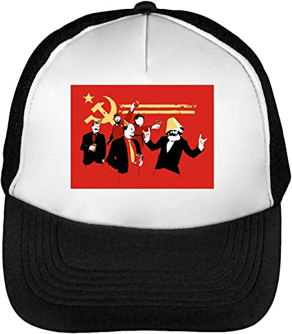 Communists Party Hard Funny Gorras Hombre Snapback Beisbol Negro ...