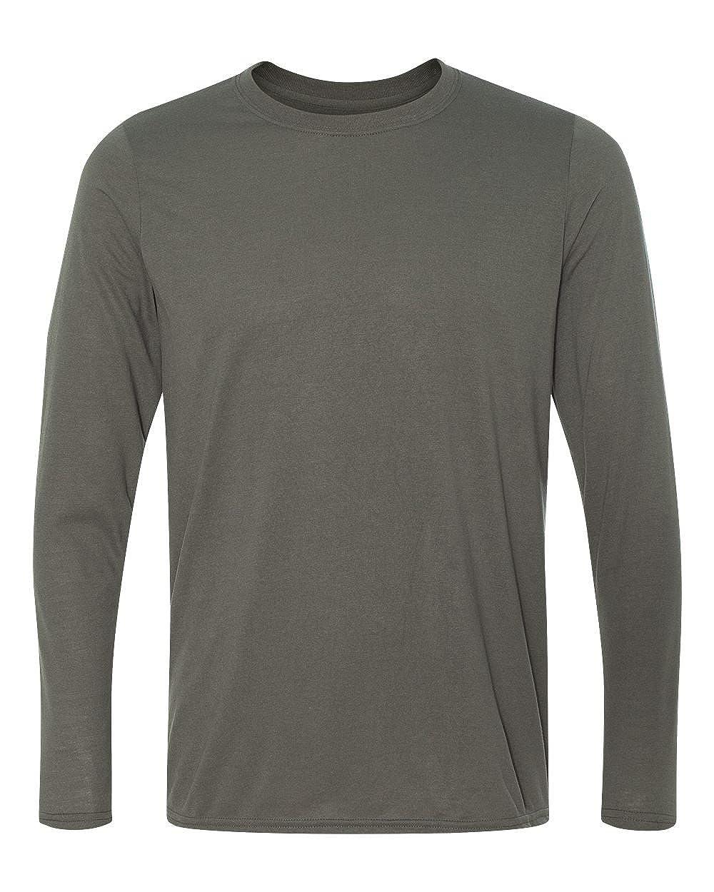Gildan Mens Wicking Crewneck Freshcare Jersey T-Shirt