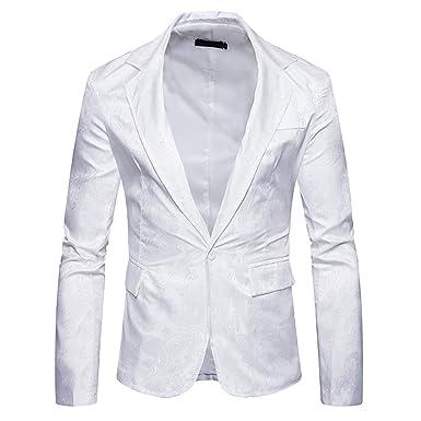 Moollyfox Chaqueta de Traje Elegante Slim Fit Blazer de Pana para Hombre: Amazon.es: Ropa y accesorios