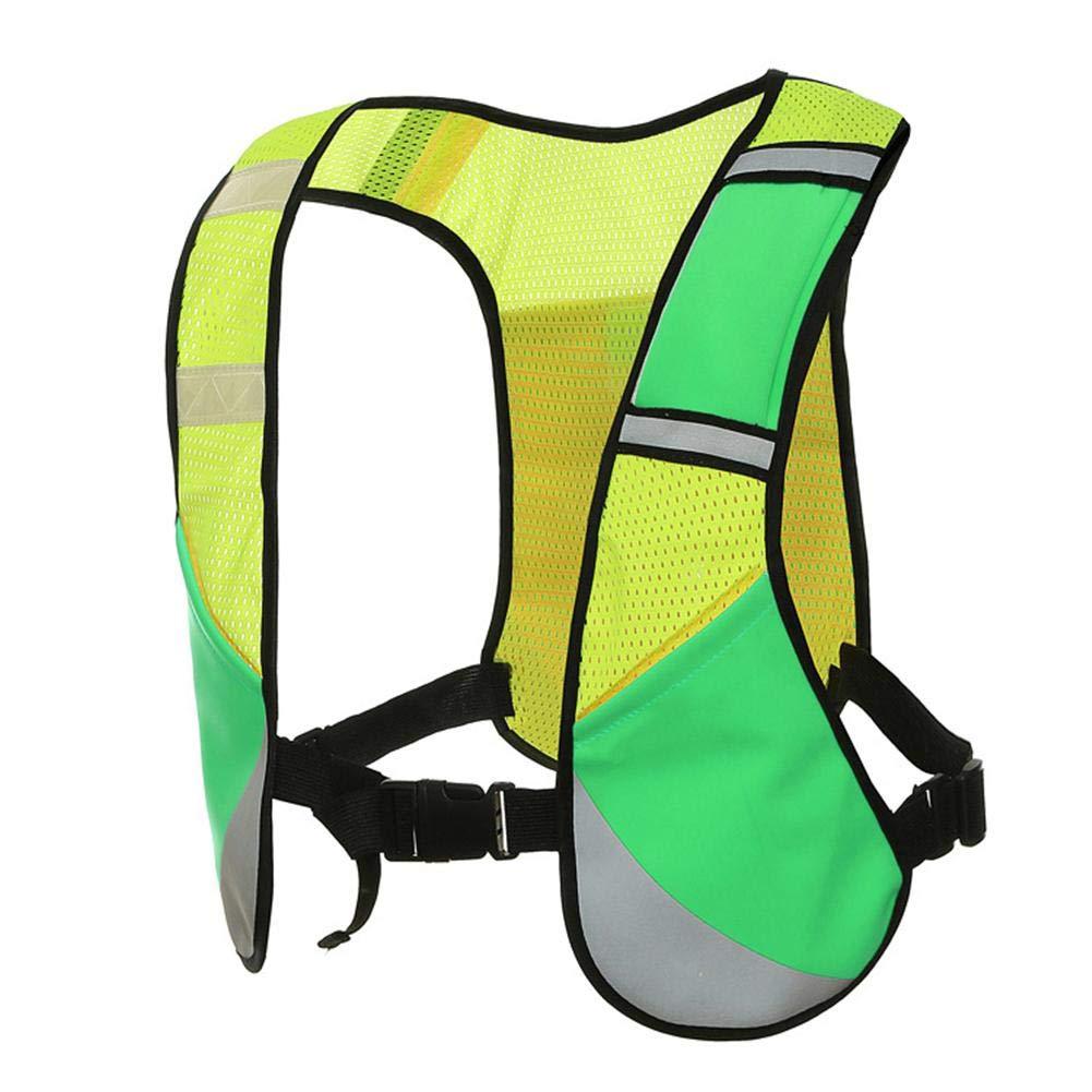 Seasaleshop Reflektierende Weste Einstellbare Reflektierende Laufbekleidung Sicherheitsweste Für Joggen, Radfahren, Gehen, Motorradfahren und Laufen im Freien.