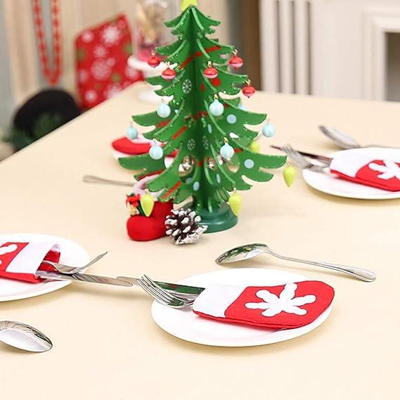 Damark Decoracion Navidad Papa Noel Renos Muñeco de Nieve Adornos Navideños, Sombrero de Navidad Bolsa decoración de Mesa,Navidad Bolsillos para Cubiertos ...