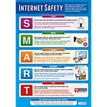 "Internet Safety Poster|Educational Computing Chart for All Students, Glossy Paper Measuring 33"" x 23.5"", Easy Learning with Colorful Images for the Classroom, by Daydream Education"