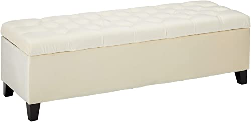 Christopher Knight Home Ottilie Velvet Storage Ottoman