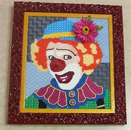pepita Up Clown Needlepoint Canvas