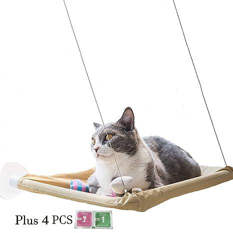 VANELIFE Hamaca para Mascotas Gatos, con ventosas Fuertes para Ventanas, Cristal, Percha para Gato Relajante, cómoda Cama de Asiento Soleado, Color ...