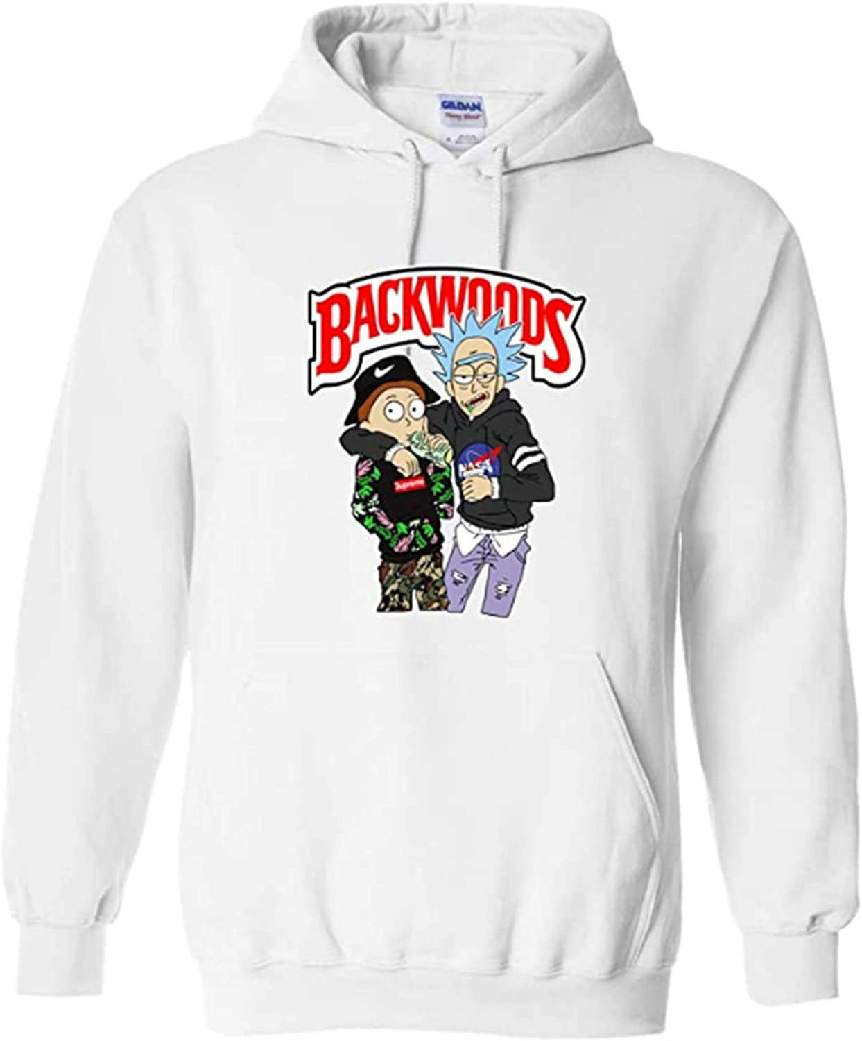 LIPAGI Rick and Morty Backwoods Unisex Hooded Sweater Pullover Hoodie