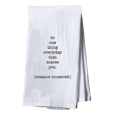 Hacer una cosa cada día que te asusta (harina saco toalla de cocina