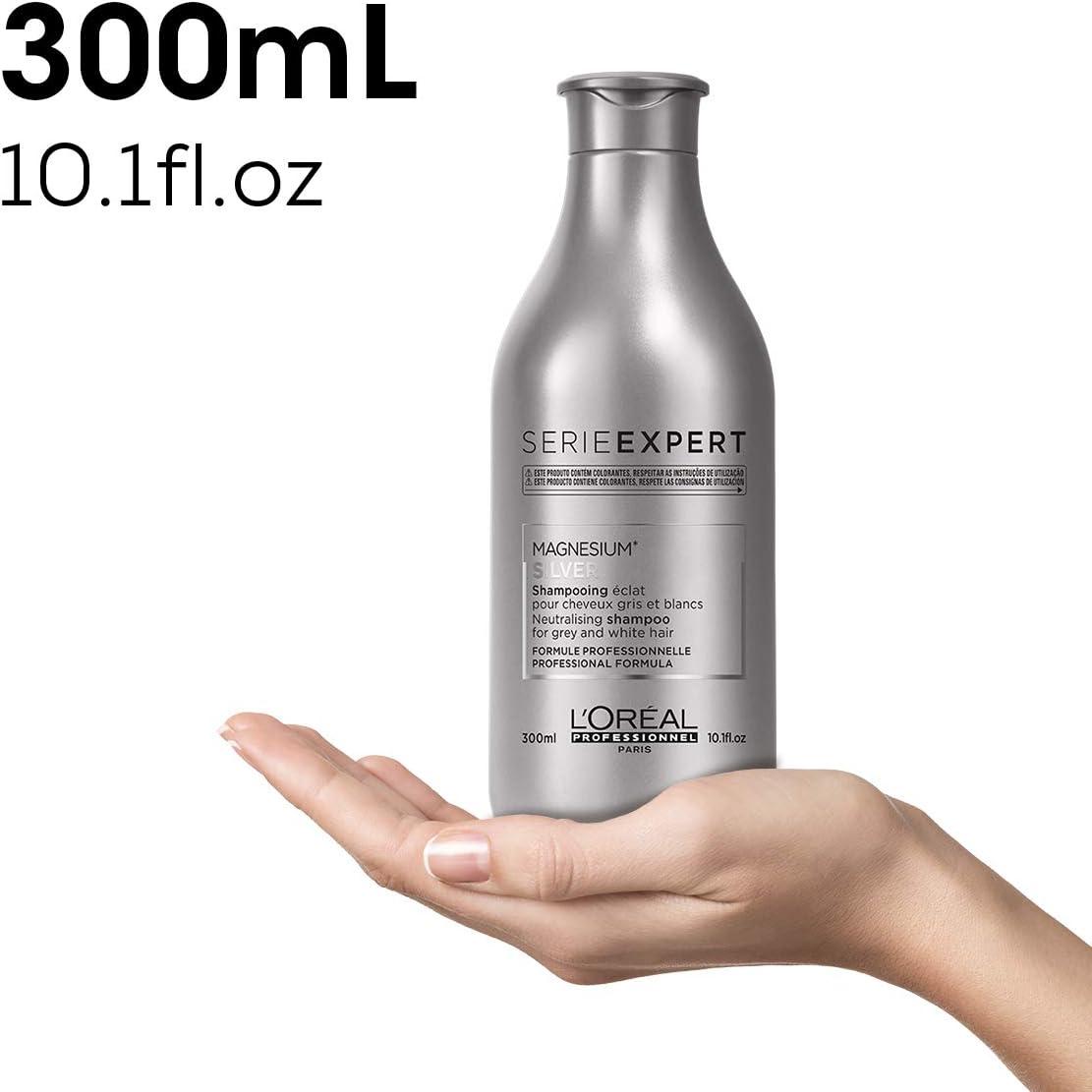 LOréal Professionnel, Champú Silver para Cabellos Blancos y Grises - 300 ml