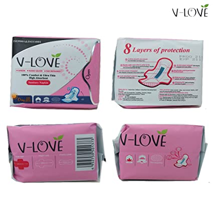 VLOVE Toallas Sanitarias Suaves Alas,Patentado Anion (4 x 10 unidades): Amazon.es: Bebé